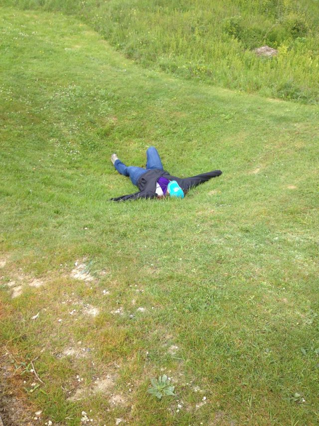 We have a Briton down.  Bowled over by Lochnagar Crater